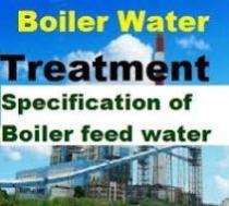مشخصات لازم آب دیگ های بخار